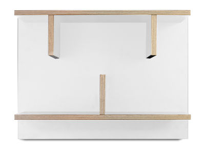 Arredamento - Scaffali e librerie - Mensola Rack / L 60 x H 45 cm - POP UP HOME - Bianco / Sezioni: legno - Melamina