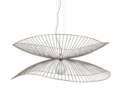 Illuminazione - Lampadari - Sospensione Libellule Large - / Ø 100 x H 40 cm di Forestier - Rame rosa - Fili di ferro laccati