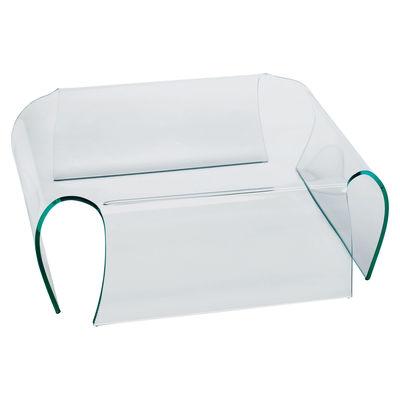 Mobilier - Tables basses - Table basse Bent Glass H 33 cm - 93 x 93 cm - Glas Italia - 93 x 93 cm - Cristal transparent - Verre