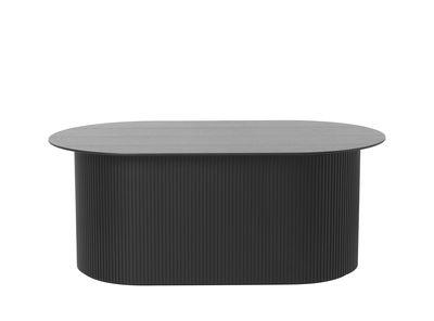 Table basse Podia / Coffre - 95 x 55 cm - Ferm Living noir en bois