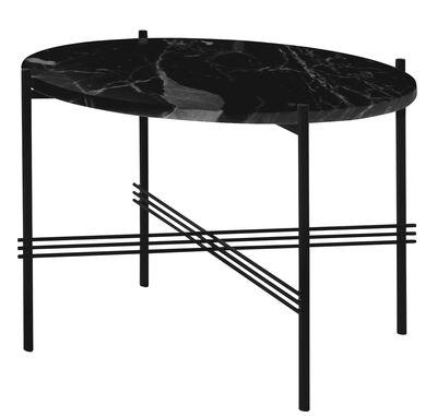 Table basse TS / Gamfratesi - Ø 80 x H 35 cm - Marbre - Gubi noir en métal
