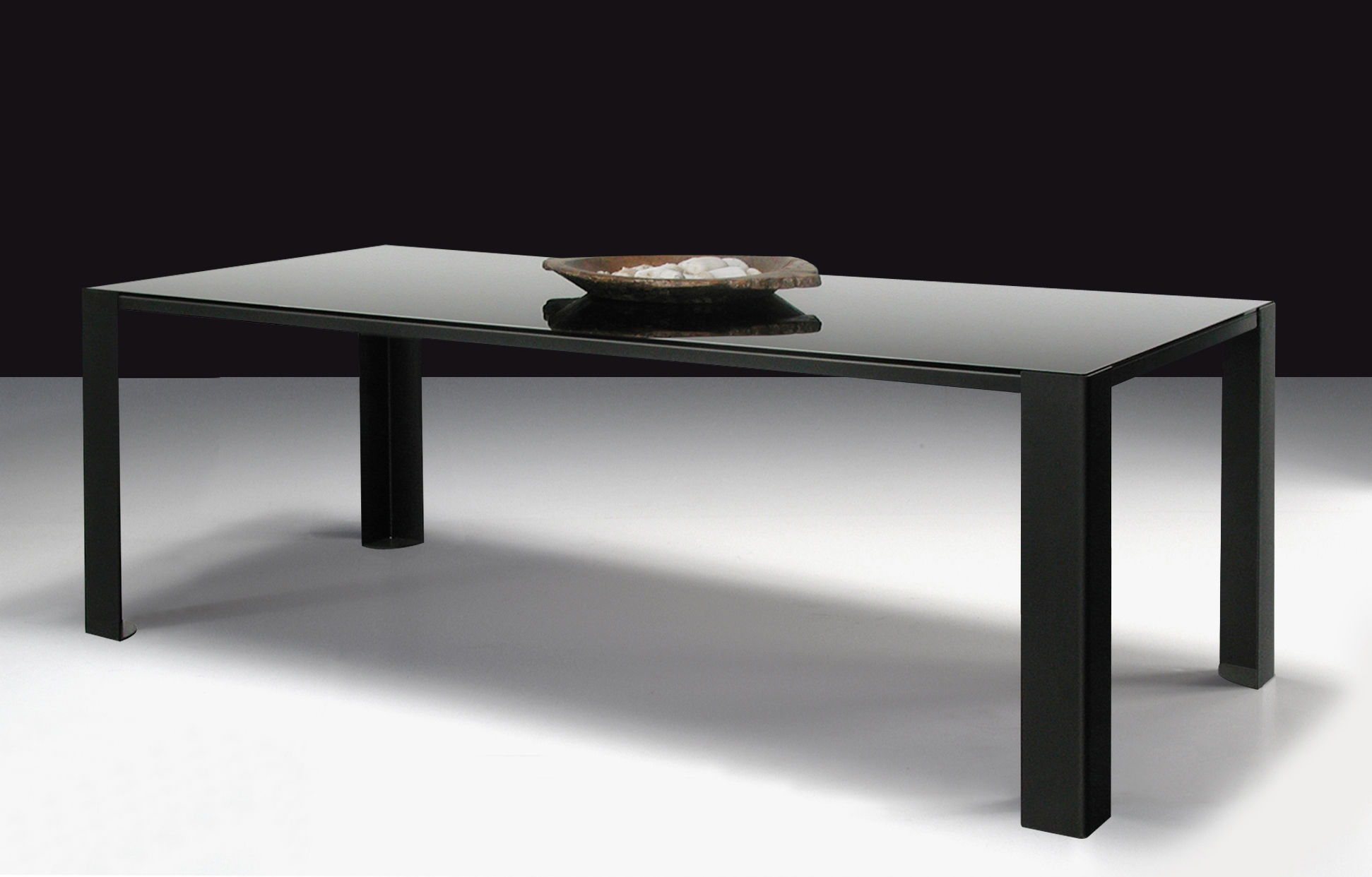 Furniture dining tables big irony black glass table black glass table top