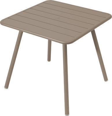 Table Luxembourg / 80 x 80 cm - 4 pieds - Fermob muscade en métal