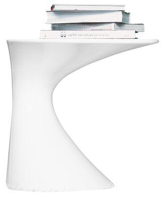 Table d'appoint Tod - Zanotta blanc laqué en matière plastique