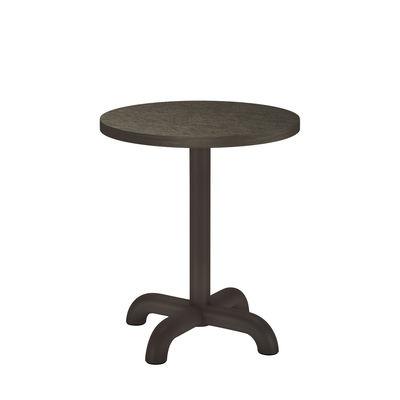 Table d'appoint Unify / Ø 40 cm - Chêne - Petite Friture gris en bois