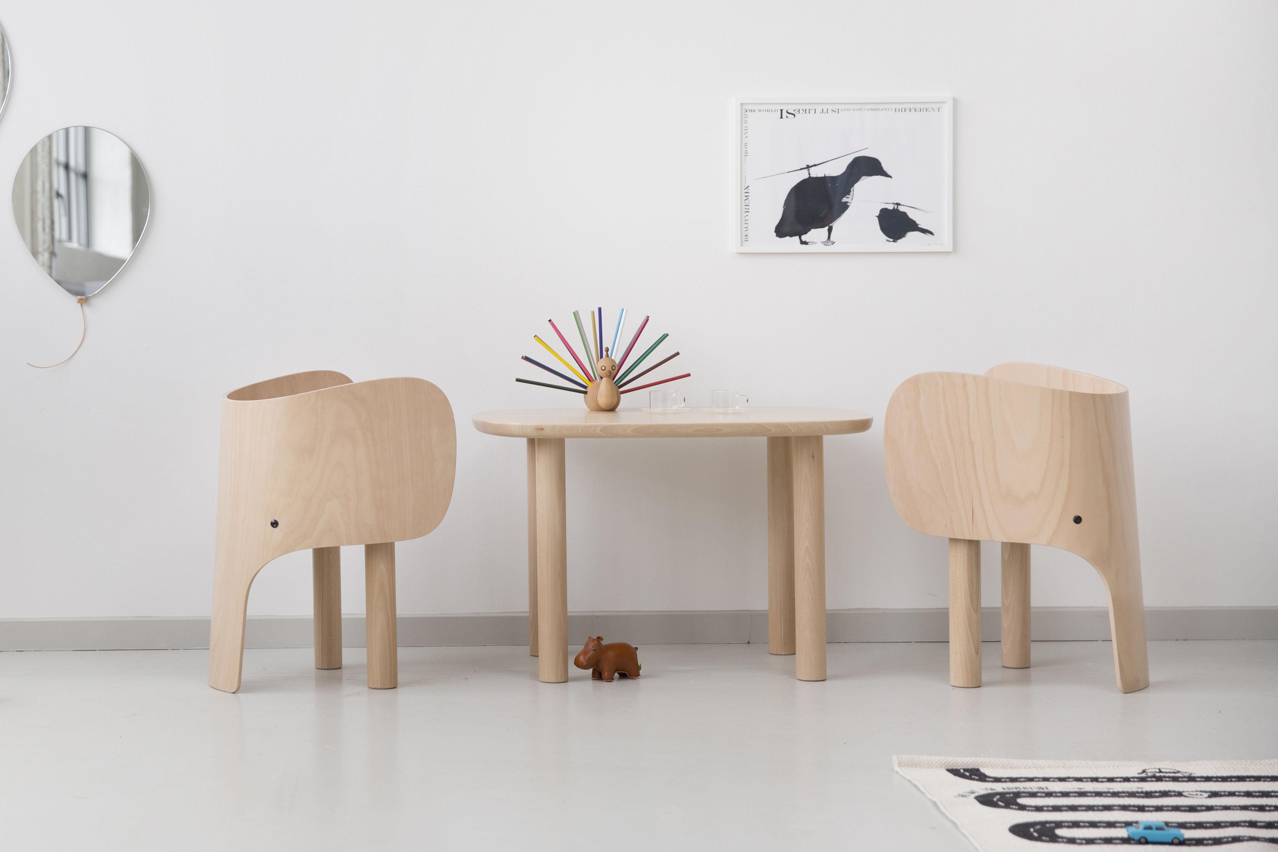 Table Enfant Elephant 55 Cm X 75 Cm Hetre