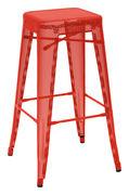 Tabouret de bar H Perforé H 75 cm Couleur brillante Tolix rouge brillant en métal