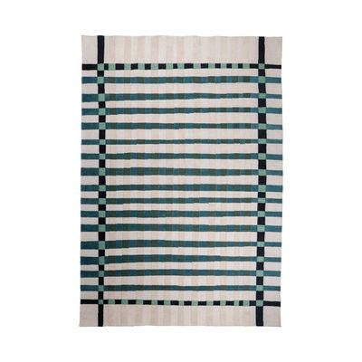 Déco - Tapis - Tapis d'extérieur Vichy / 200 x 300 cm - Fibre plastique recyclée - Maison Sarah Lavoine - Bleu Sarah - Fibre synthétique recyclée