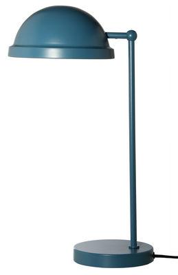 Bowler Tischleuchte / H 43 cm - Frandsen - Petrolblau, matt