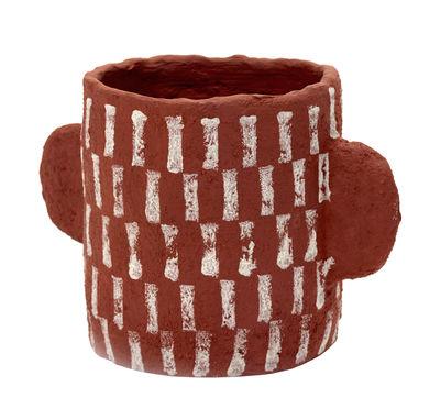 Interni - Vasi e Piante - Vaso Marie - / Carta riciclata di Serax - Rosso / Motivi bianchi - Cartapesta riciclata