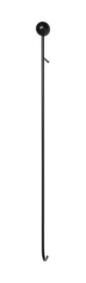 Furniture - Coat Racks & Pegs - Pujo Wall coat rack - / Bois & métal by Ferm Living - Frêne teinté noir - Black stained ash, Epoxy lacquered metal