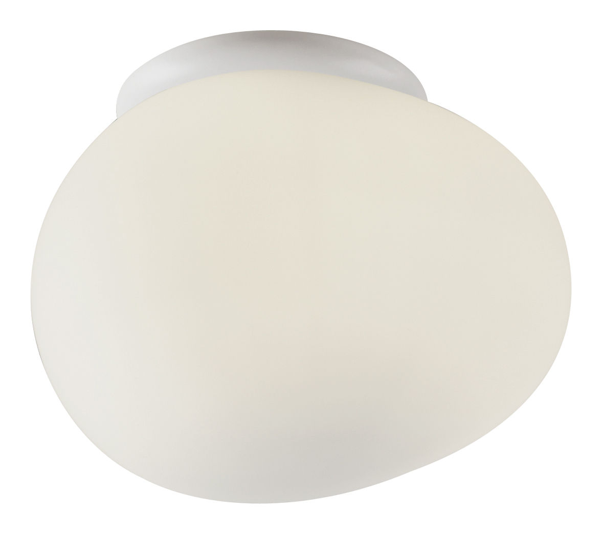 Lighting - Wall Lights - Gregg Piccola Wall light - Ceiling light by Foscarini - White - Piccola (L 13 cm) - Blown glass