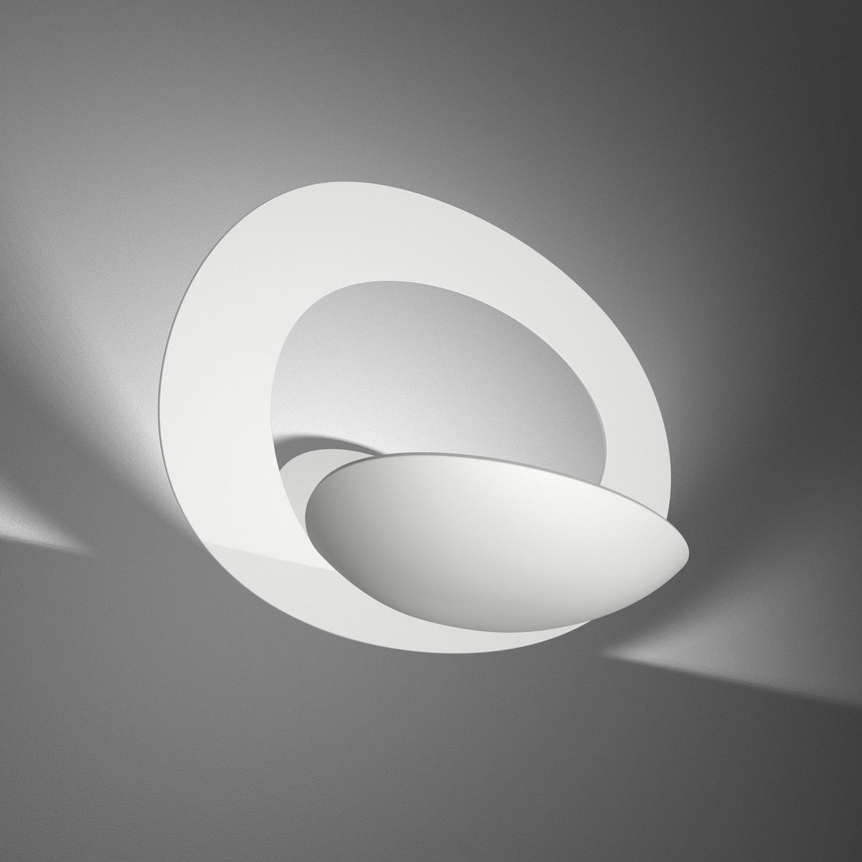 Leuchten - Wandleuchten - Pirce Wandleuchte - Artemide - Weiß - klarlackbeschichtetes Aluminium