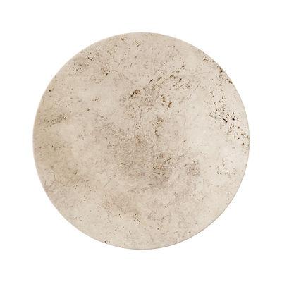 Arts de la table - Assiettes - Assiette de présentation SC55 / Ø 50 cm - Travertin - &tradition - Beige rosé - Pierre Travertin