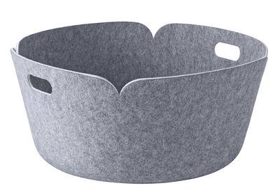 Accessories - Desk & Office Accessories - Restore Basket - Round - Ø 52 cm by Muuto - Grey - Recycled felt