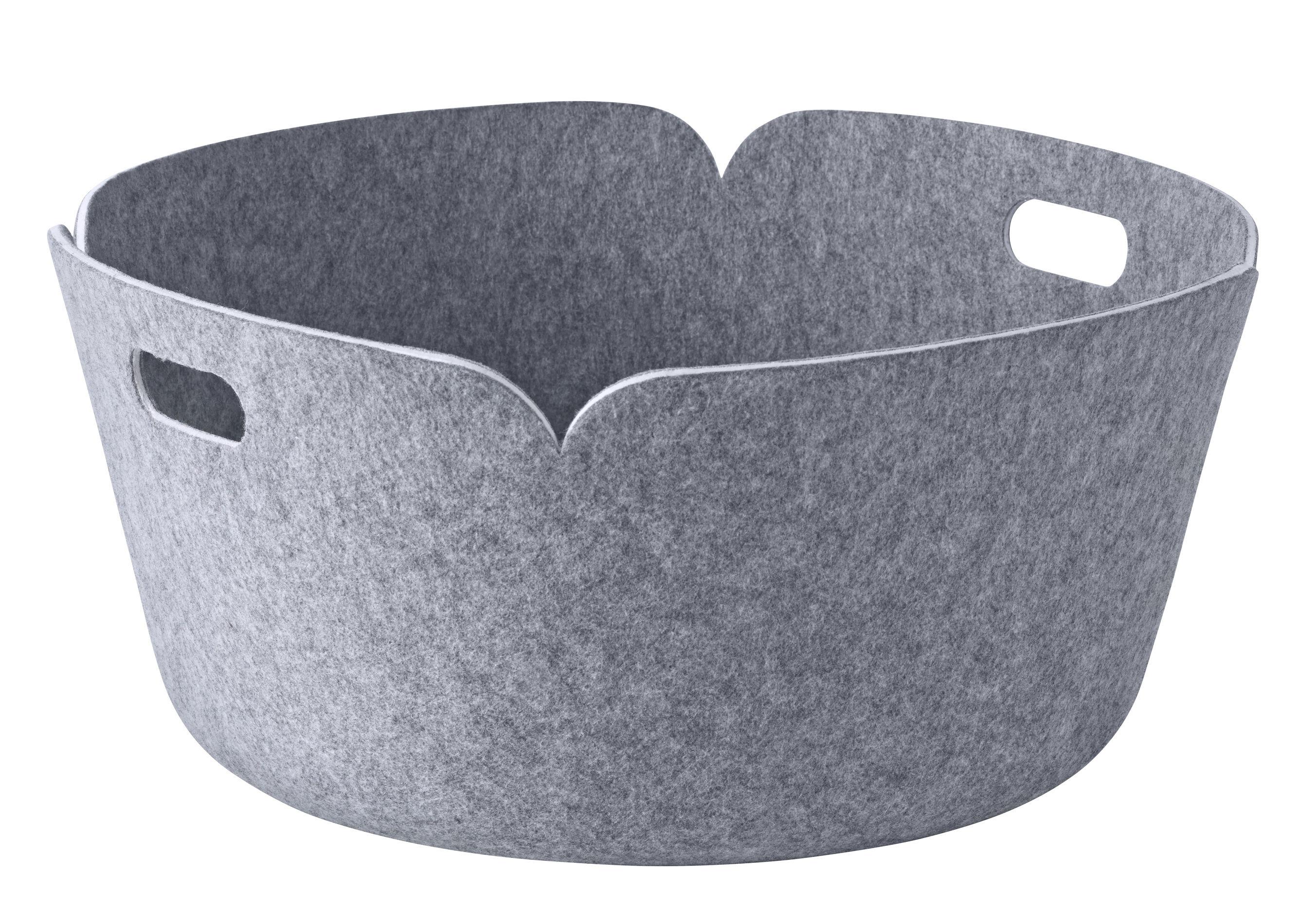 Decoration - Centrepieces & Centrepiece Bowls - Restore Basket - Round - Ø 52 cm by Muuto - Grey - Recycled felt