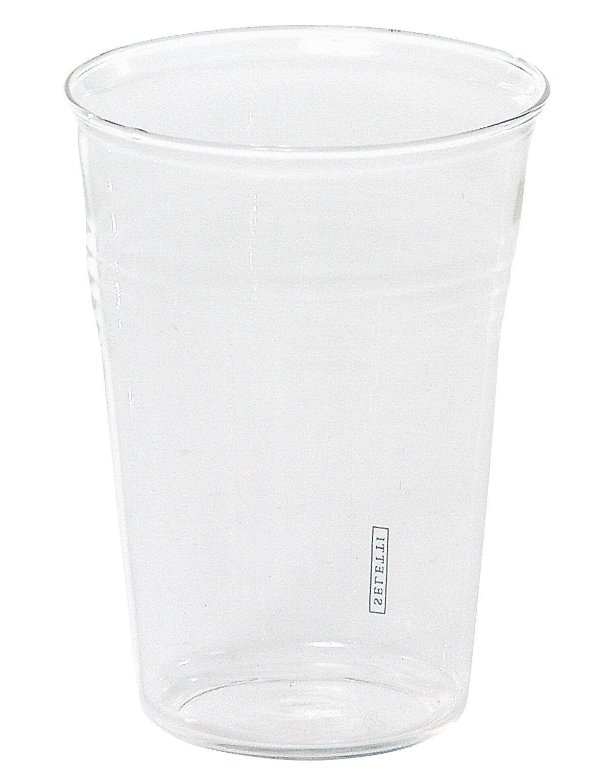 Tavola - Bicchieri  - Bicchiere da acqua Estetico quotidiano di Seletti - Trasparente - Bicchiere da acqua - Vetro