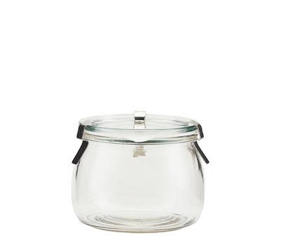 Bocal hermétique Use / 500 ml - H 8,4 cm - House Doctor argent,transparent en verre