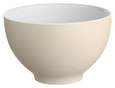 Bol Tonale Large / Ø 18 cm - Alessi blanc,jaune pâle en céramique