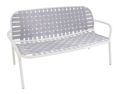 Canapé droit Yard 2 places L 139 cm Emu blanc,gris en tissu