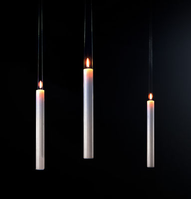 Decoration - Funny & surprising - Fly Candle Fly! Candle - Hanging candle by Ingo Maurer - White - Plastic, Wax