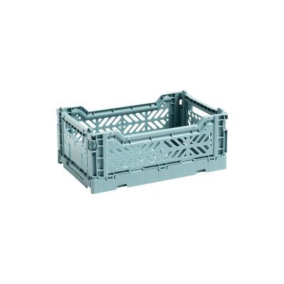 Interni - Per bambini - Cestino Colour Crate - Small / 26 x 17 cm di Hay - Blu Marzaiola - Polipropilene