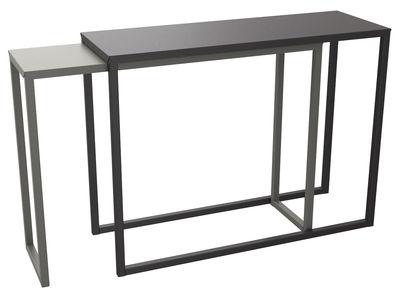 Console Burga coulissante / Longueur 100 à 200 cm - Matière Grise noir,taupe en métal