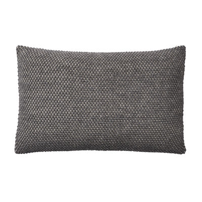 Coussin Twine / Laine baby lama tricotée main - 80 x 60 cm - Muuto gris en tissu