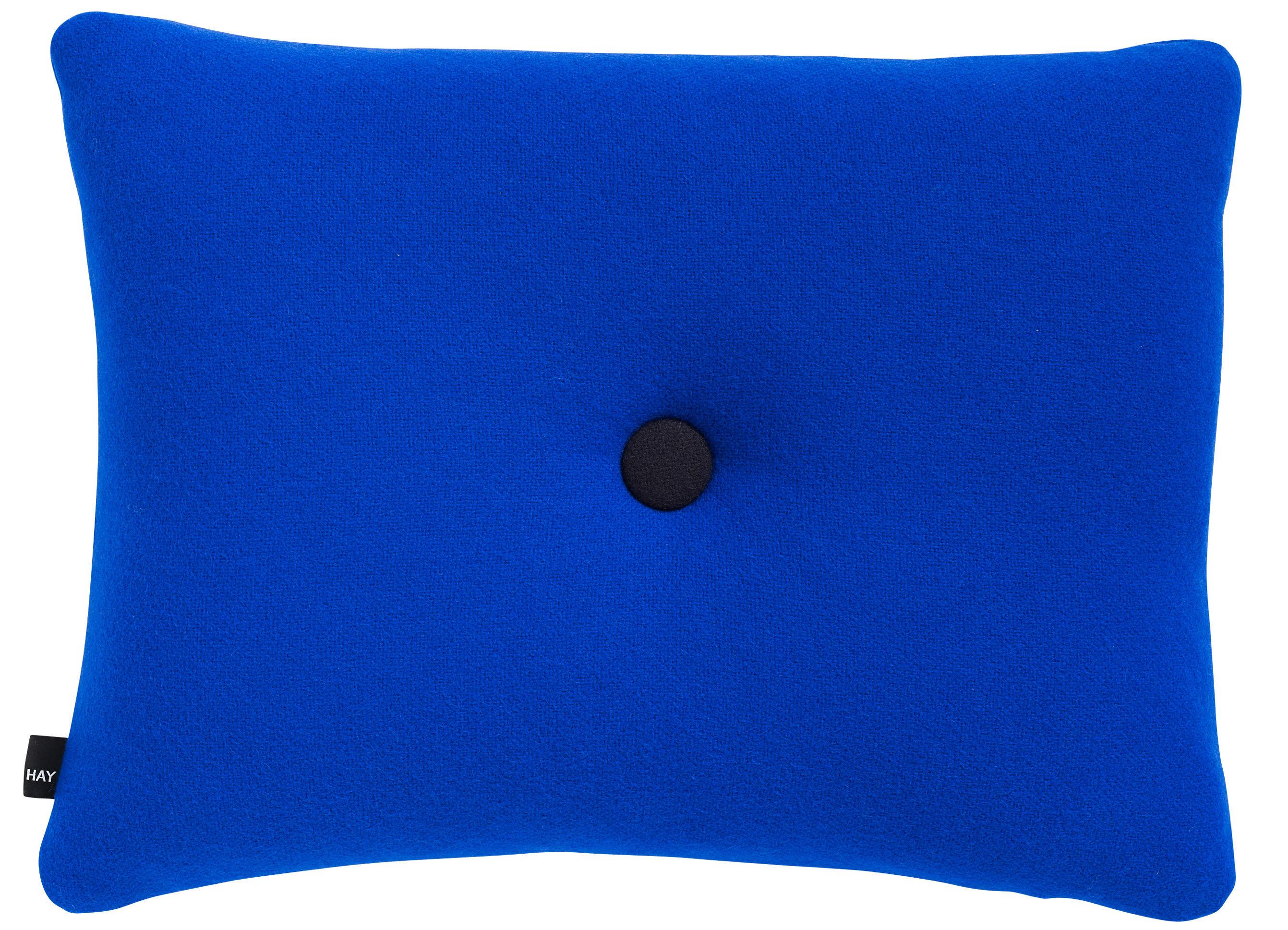 Interni - Cuscini  - Cuscino Dot - Tonus 60 x 45 cm - Hay - Blu elettrico - Tessuto