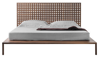 Furniture - Beds - Twine Double bed - Walnut / For mattress 180 x 200 cm by Horm - Walnut - Solid walnut