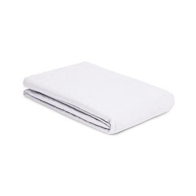 Drap plat 270 x 310 cm / Lin lavé - Au Printemps Paris blanc en tissu