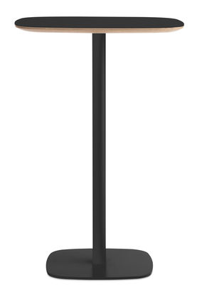 Furniture - High Tables - Form High table - 70x70 x H 104,5 cm by Normann Copenhagen - Black - Lacquered oak, Lacquered steel, Linoleum coated oak