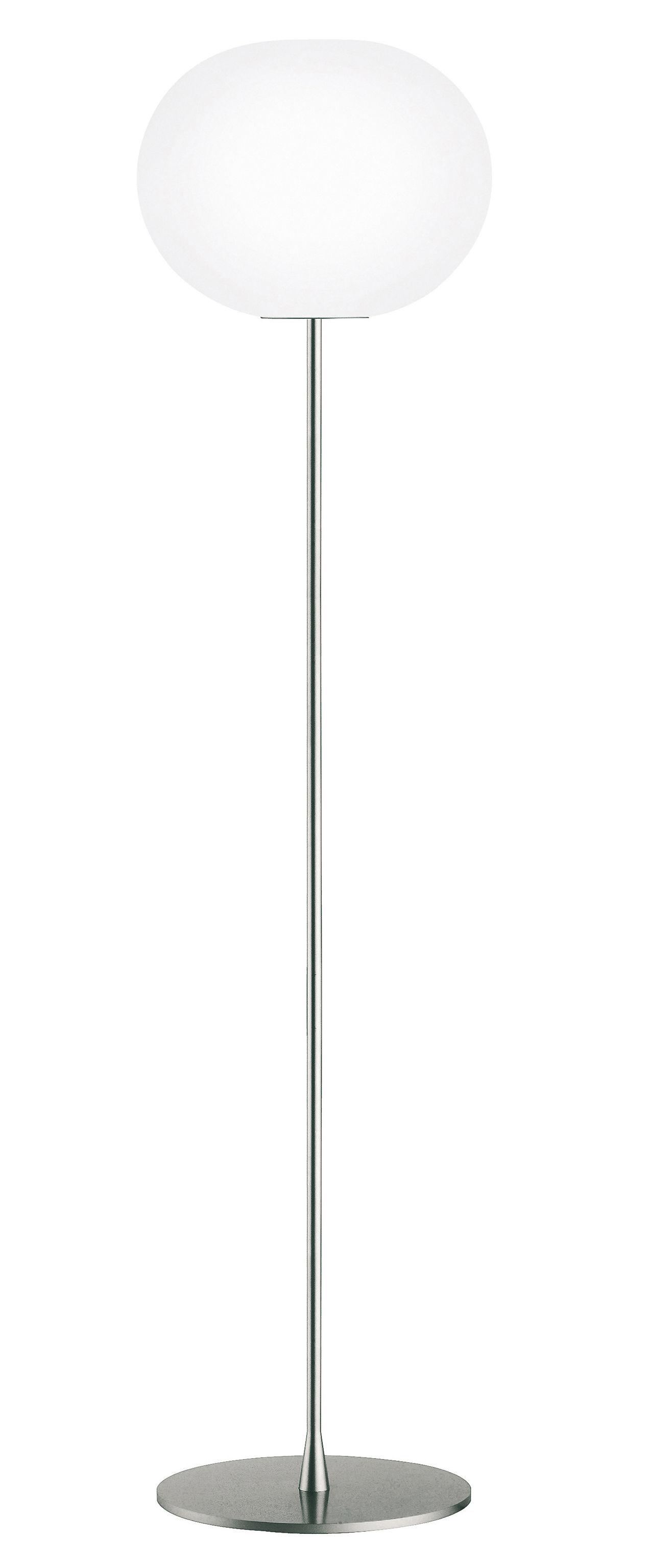 Illuminazione - Lampade da terra - Lampada a stelo Glo-Ball F3 di Flos - Grigio metallizzato - Vetro