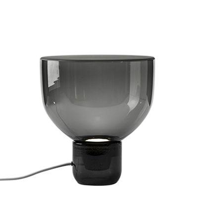 Image of Lampada da tavolo Lightline Small - / Ø 32 x H 34 cm - Vetro di Brokis - Grigio/Nero - Vetro