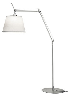 Lampadaire Tolomeo Paralume LED Outdoor / H 132 à 298 cm - Artemide blanc en métal