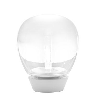 Lampe de table Empatia LED / Ø 16 cm - Artemide blanc,transparent en métal