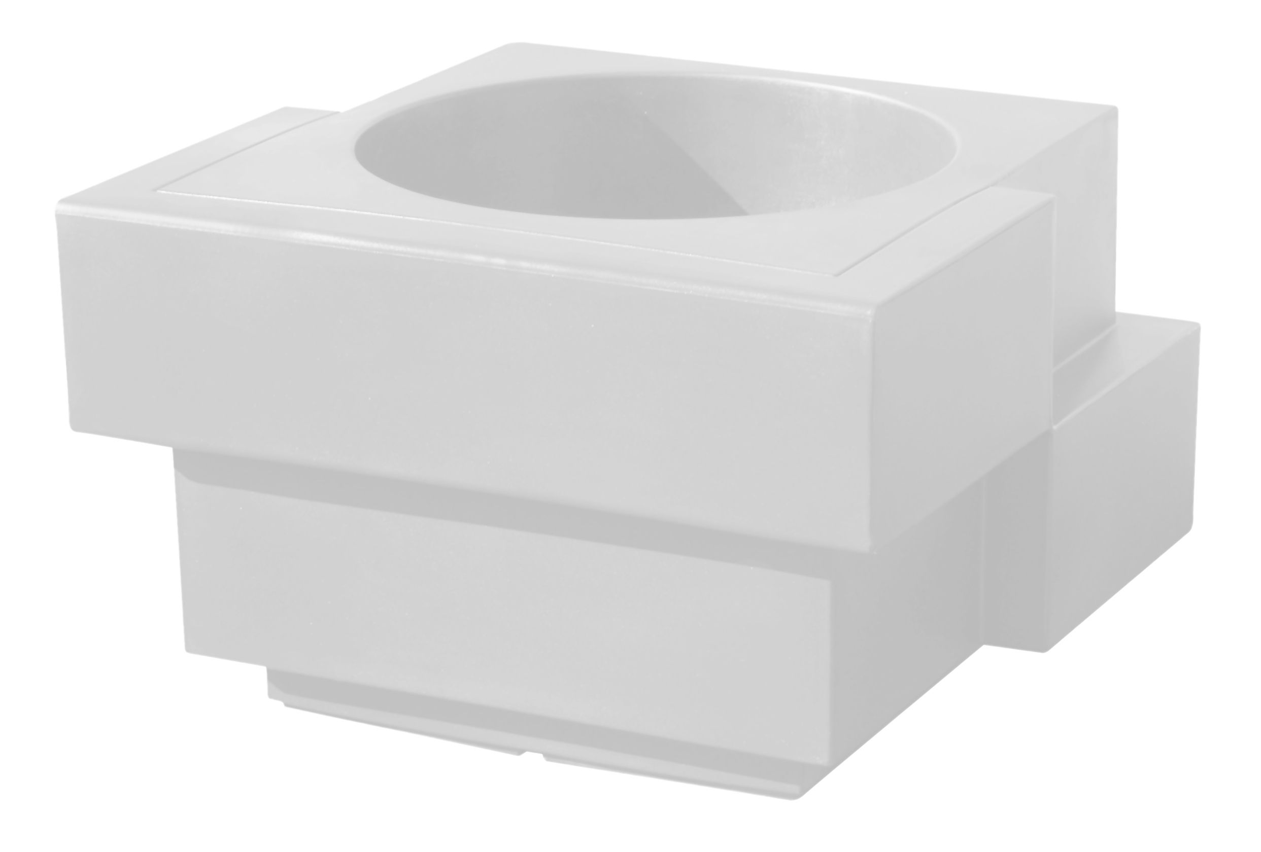 Möbel - Leuchtmöbel - Cubic Yo Lumineux leuchtender Blumentopf - Slide - Weiß - Polyäthylen