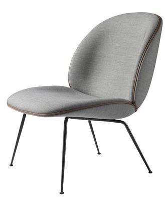 beetle lounge sessel gamfratesi grau stuhlbeine schwarz by gubi made in design. Black Bedroom Furniture Sets. Home Design Ideas