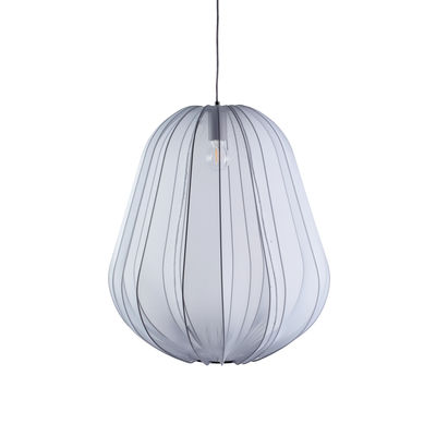 Lighting - Pendant Lighting - Balloon Large Pendant - / Translucent mesh - Ø 53 x H 60 cm by Bolia - Grey - Elasticated fabric, Metal