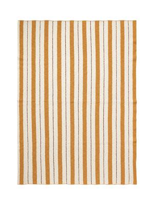 Plaid enfant Rayures - Effet 3D / 120 x 160 cm - Ferm Living rose/rouge en tissu
