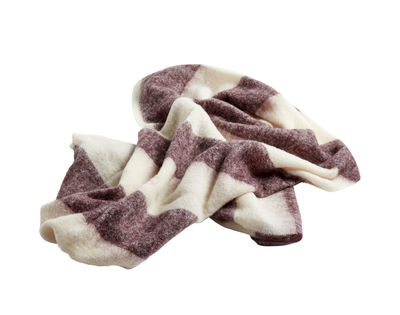Decoration - Bedding & Bath Towels - Mohair Plaid - /120 x 180 cm by Hay - Burgundy - Merinos wool, Mohair