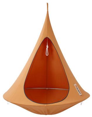 Outdoor - Sedie e Amache - Poltrona sospesa - sospesa - Singola di Cacoon - Arancione - Alluminio anodizzato, Tela