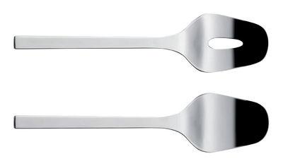 Tableware - Serving Cutlery - Colombina Salad servers by Alessi - Steel - Stainless steel