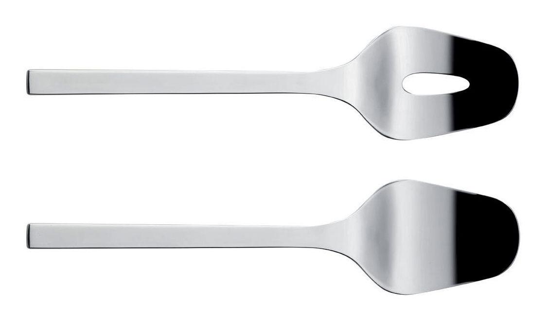 Tischkultur - Couverts de service - Colombina Salatbesteck - Alessi - Stahl - rostfreier Stahl