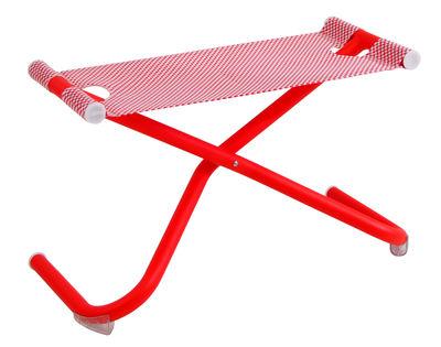 Snooze Sitzkissen / Fußablage - zusammenklappbar - Emu - Rot