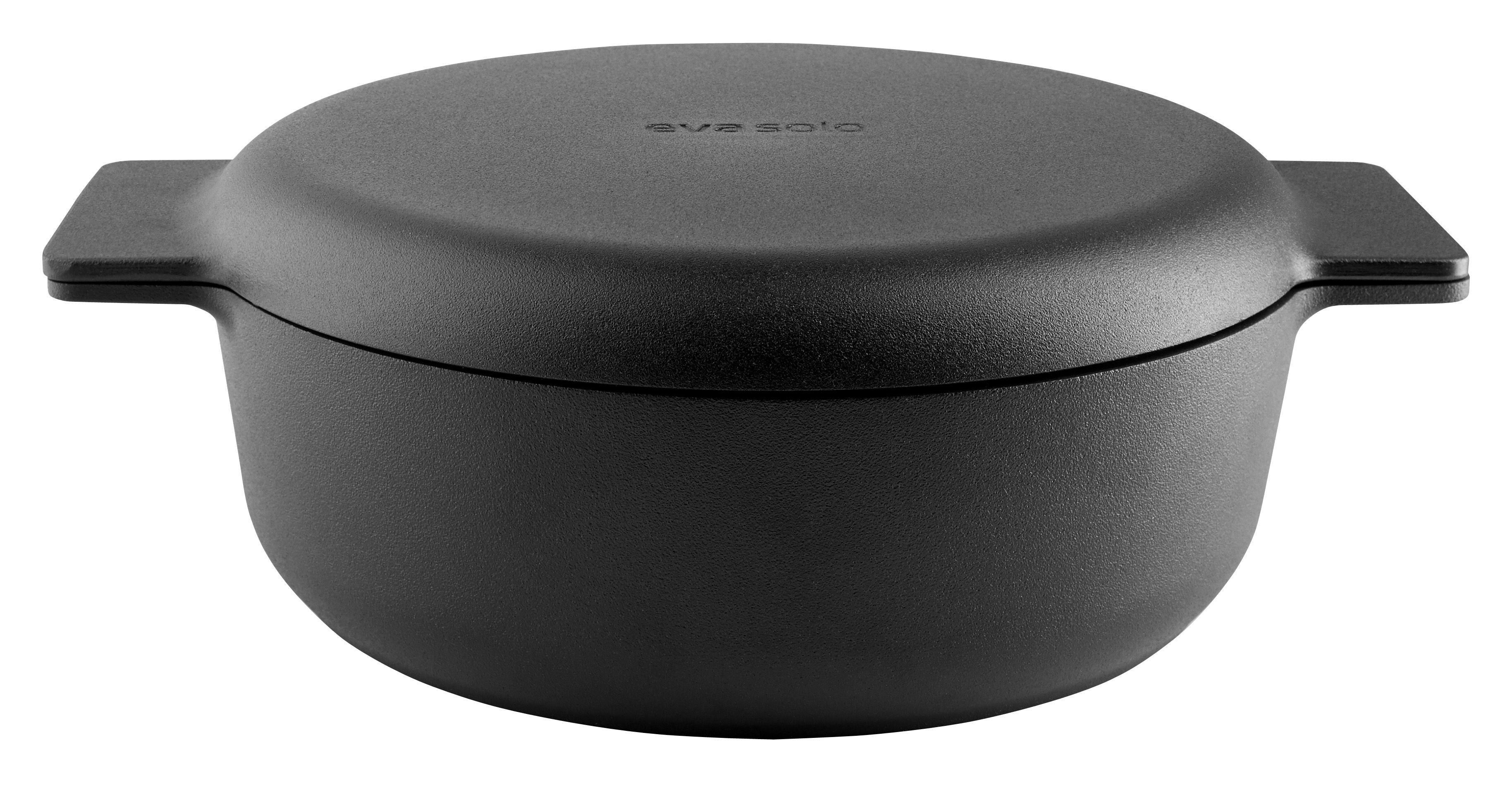 Kitchenware - Pots & Pans - Nordic kitchen 2,5L Stew pot - / Cast aluminium - All heat sources by Eva Solo - Mat black - Cast aluminium