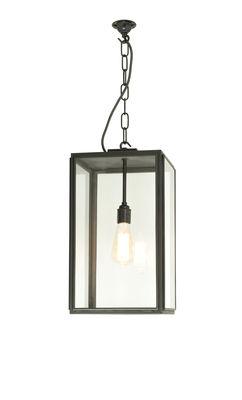 Suspension Square Medium / H 47 cm - Pour l'extérieur - Original BTC noir/transparent en métal/verre