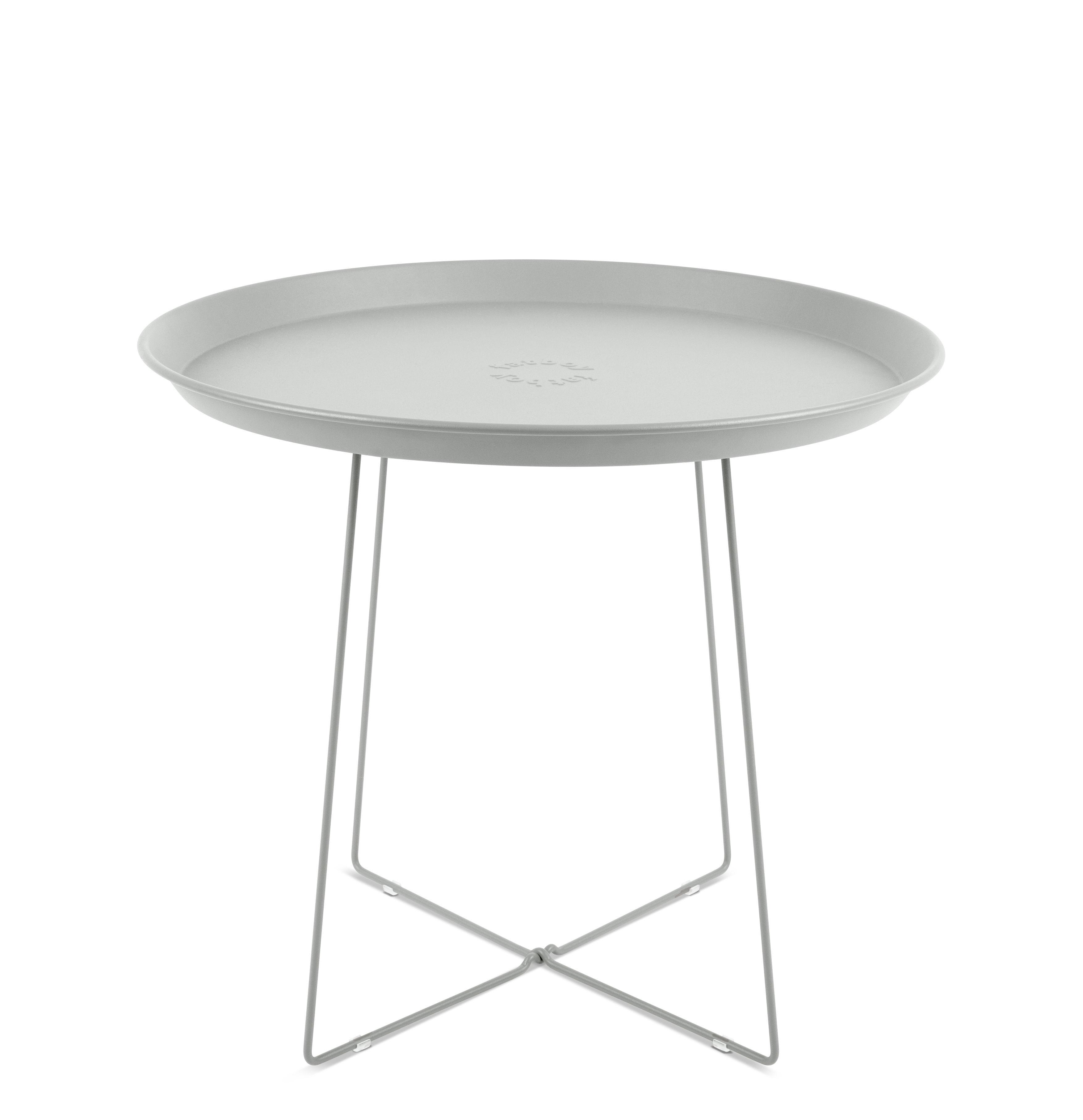 Mobilier - Tables basses - Table basse Plat-o / Plateau amovible - Ø 56 x H 46 cm - Fatboy - Gris clair - Acier peint