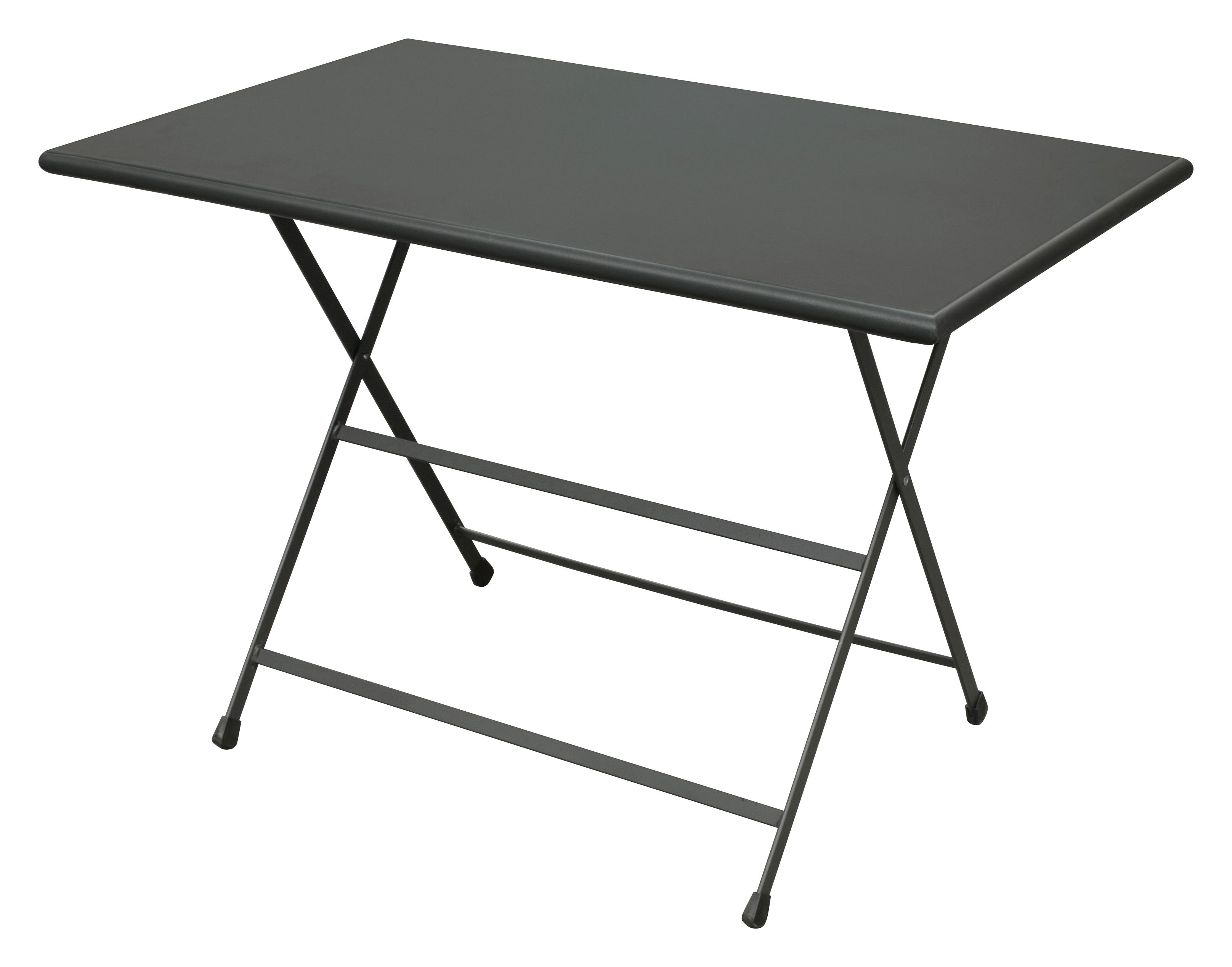 Jardin - Tables de jardin - Table pliante Arc en Ciel / 110 x 70 cm - Emu - Fer ancien - Acier inoxydable verni