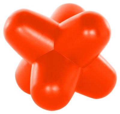 Mobilier - Tabourets bas - Tabouret lumineux Jack Light Fluoro / Lampe de sol - Tom Dixon - Orange fluo - Polyéthylène